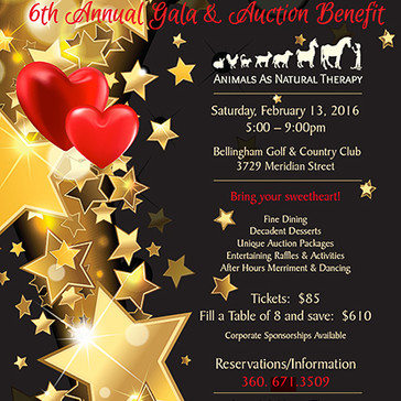 Gala flyer for Animals as Natural Therapy