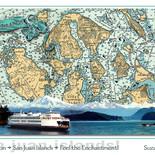 San Juan Islands Nautical Chart Poster