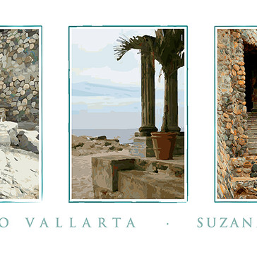 Puerto Vallarta Beach Triptych Poster
