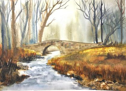 Stone Bridge in Autumn