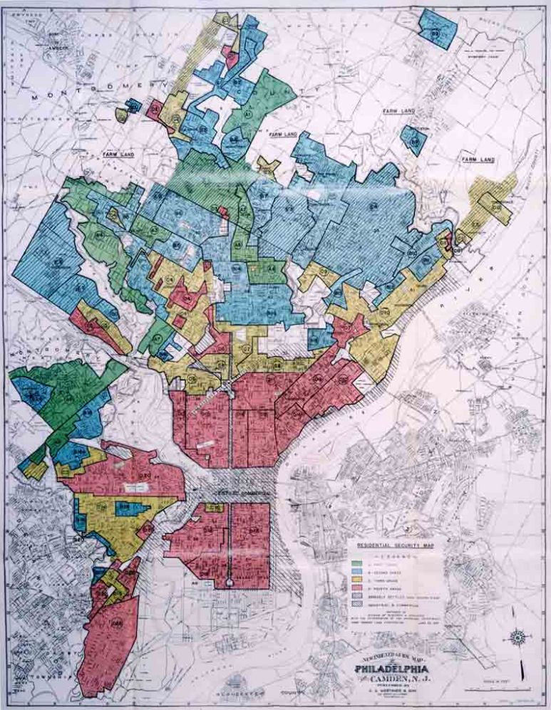 Redlining in Philadephia in the 30's
