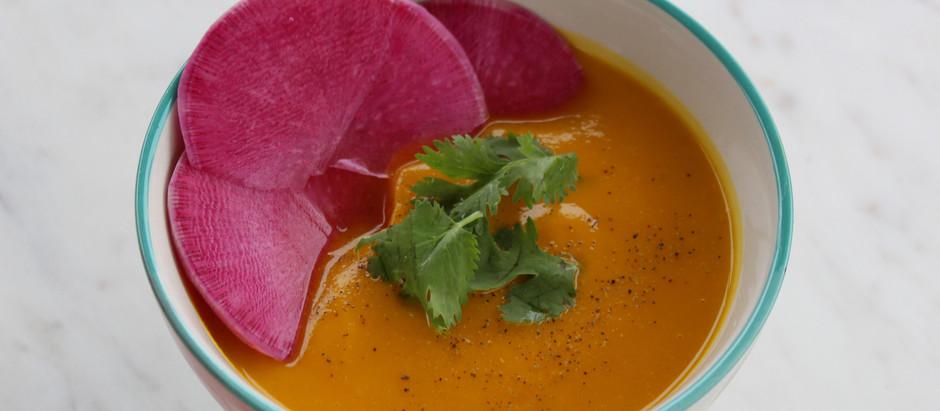 Roasted Sunset Kabocha Soup