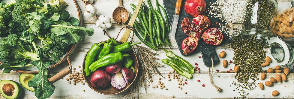 Winter vegetarian, vegan food cooking in