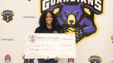 RUH delivers $2000 to San Diego students headed to HBCU's