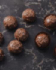 Truffes au chocolat rond