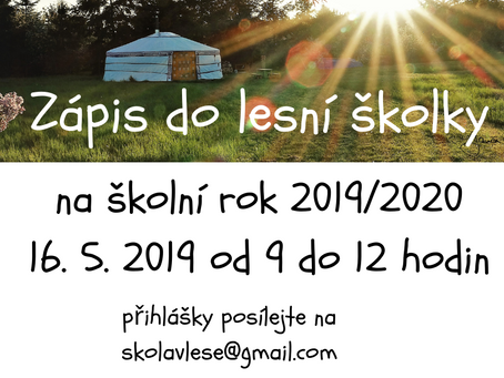Zápis do lesního klubu (školky) na rok 2019/2020
