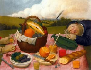 Fernando Botero, Picnic (or Comida Campestre), 1989
