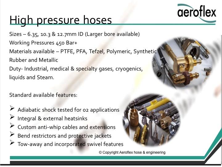 High pressure hoses