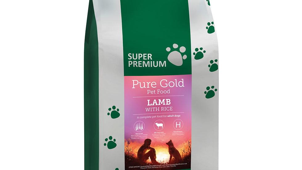 working dog super premium lamb with rice 15kg