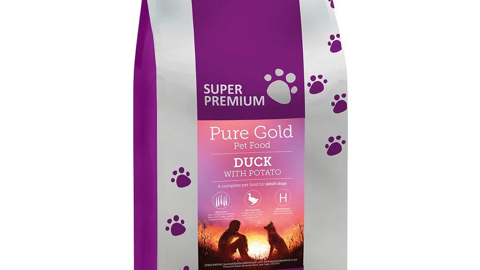 working dog super premium duck with potato 15kg