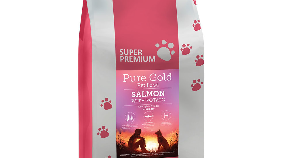 working dog super premium salmon with potato 15kg