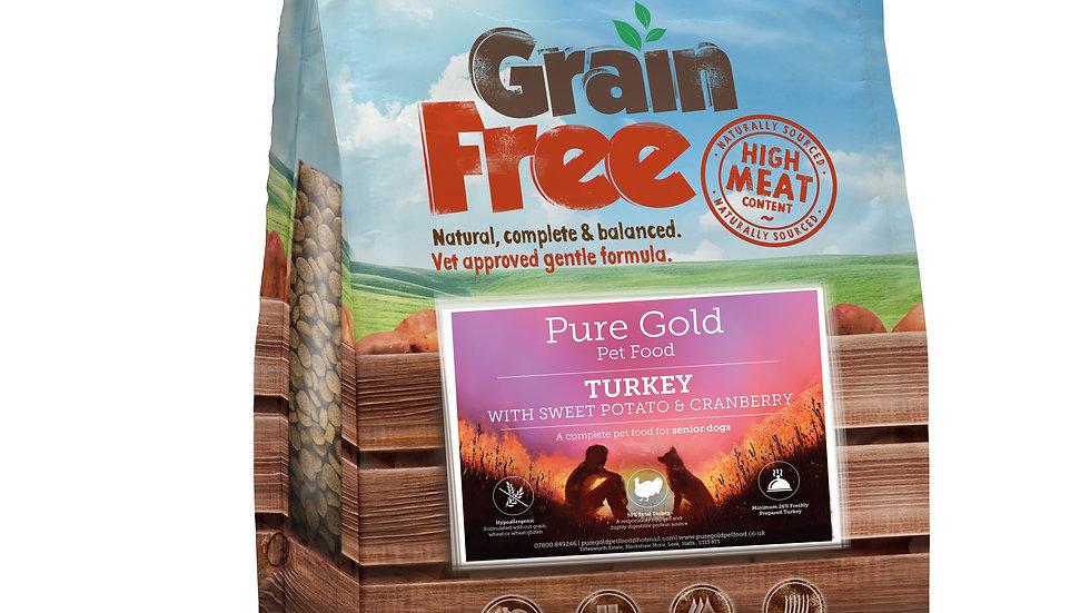 working dog grain free turkey, sweet potato and cranberry 15kg