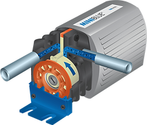 Miniblue showing rotary diaphragm technology