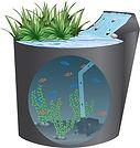 HX88MINI Pumping water in a mini aquarium