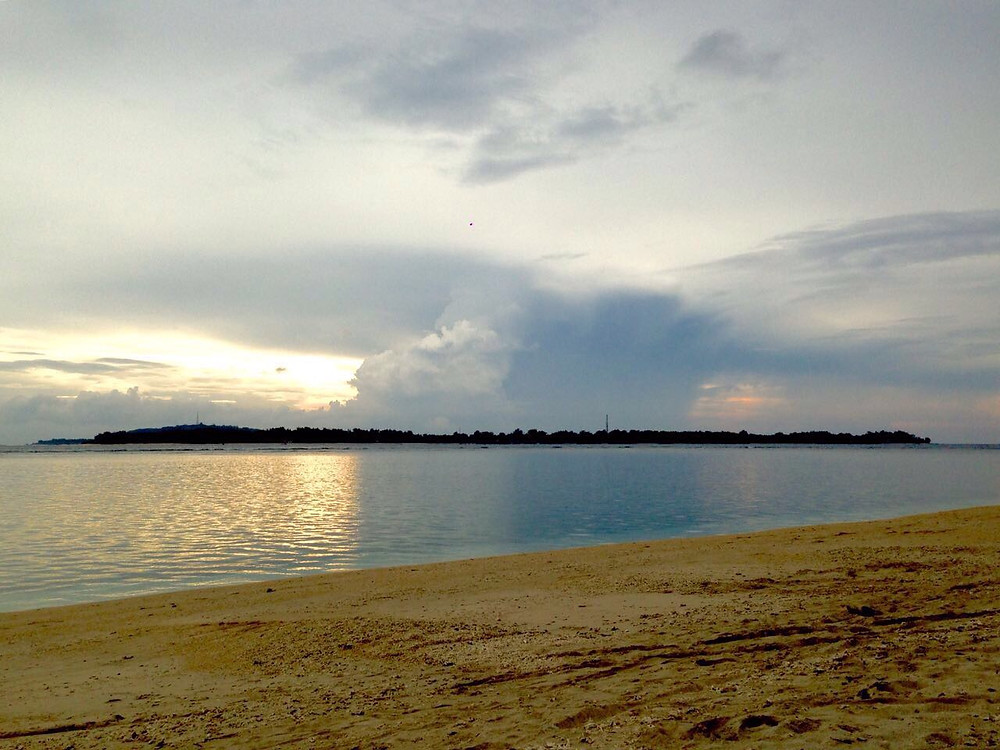 View of a storm from Gili Air