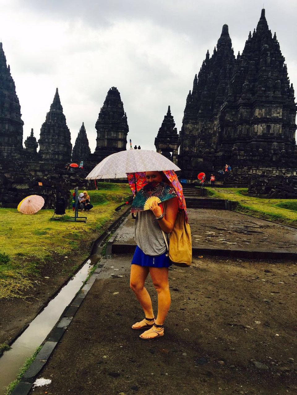 Adding style to rainy Prambanan
