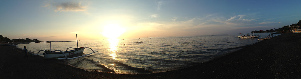 Sunset viewed from Lovina Beach