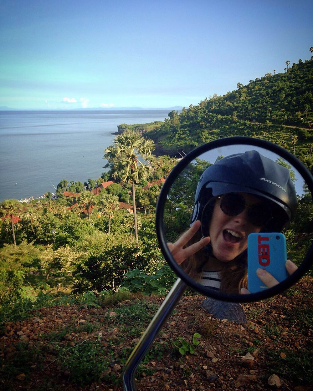 Scootering and selfie-ing down the Amed coastline