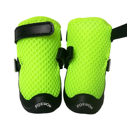 Fokwow Dog Sandals - Black Edge Green