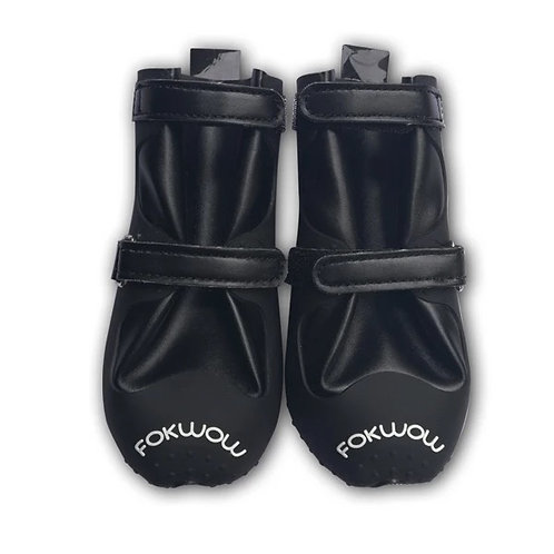 Fokwow Dog Rain Boots - Black Edge