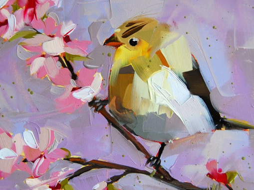 Goldfinch and Apricot Blossom, a beautiful color hue that compliments!