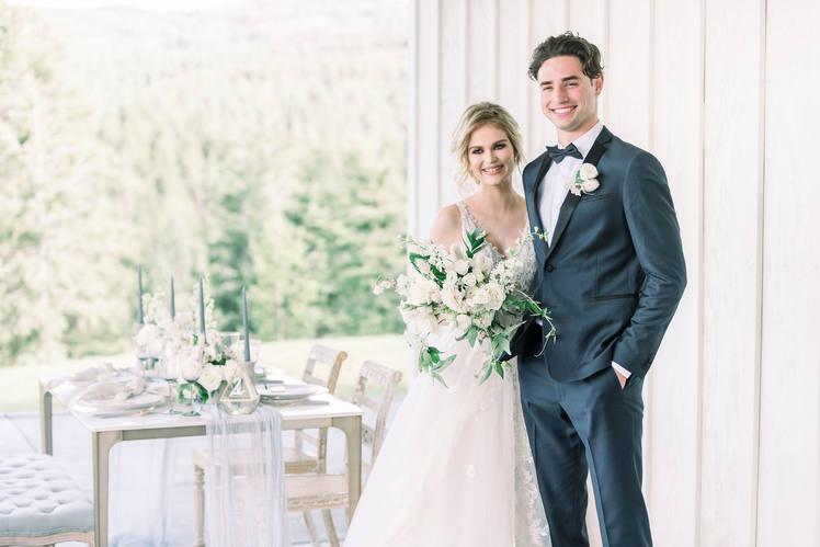 Black Tie Colorado Mountain Wedding
