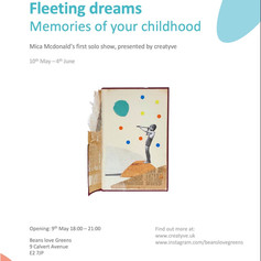 Feeling dreams: Memories of your childhood - a solo show by Mica McDonald
