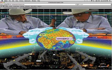 Ryder Ripps, 4thepeopleontheboat.com, website for M.I.A. (2010).