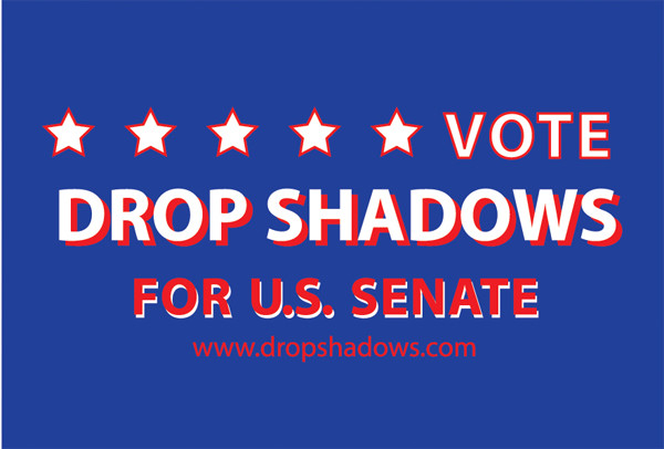 Vote drop shadows for U.S senate
