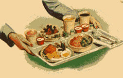 Tray with food