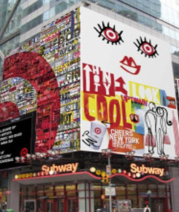 Target billboard on 42nd and 7th Avenue