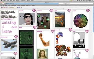 Ryder Ripps, Dump.fm visual-chat program (2009), screenshot, August 2011.