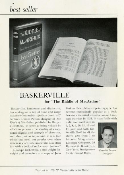 """Best seller- Baskerville for """"The riddle of MacArthur"""""""
