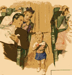 kids run down the aisle