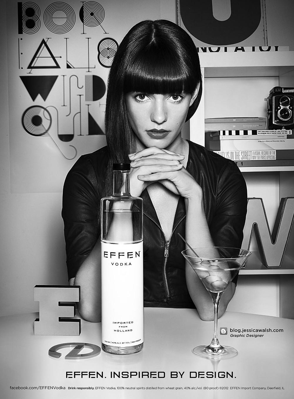 Ad for Effen Vodka