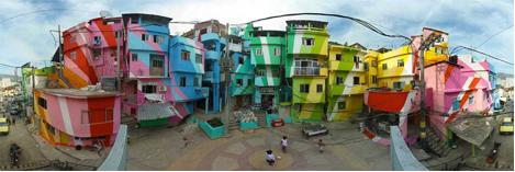 Praça Cantão Favela Painting project, via Wooster Collective