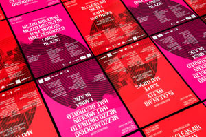A pair of posters for London arts organization Invisible Dust. Designed by StudioMakgill.
