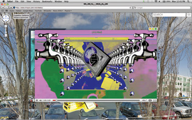 Ryder Ripps, Vickileekx website for M.I.A. using Google Street View (2011). Every location is embedded with a music video.