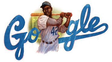 Google Doodle honoring Jackie Robinson's 94th birthday