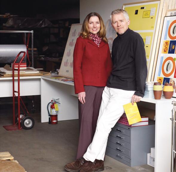 Rudy VanderLans and Zuzana Licko