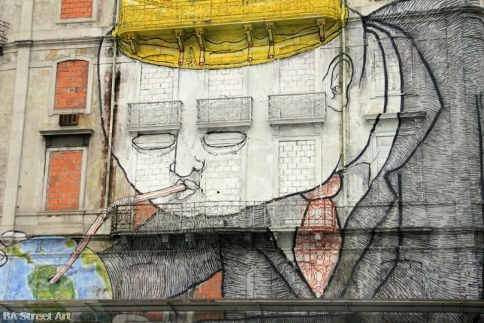 Os Gêmeos, Blu, & Sam3, Libson Mural