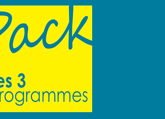 Pack de 3 programmes