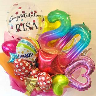 成人式お祝いバルーン花束 カラフルBIG20
