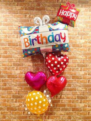 誕生日用浮かぶバルーンバースデープレゼント