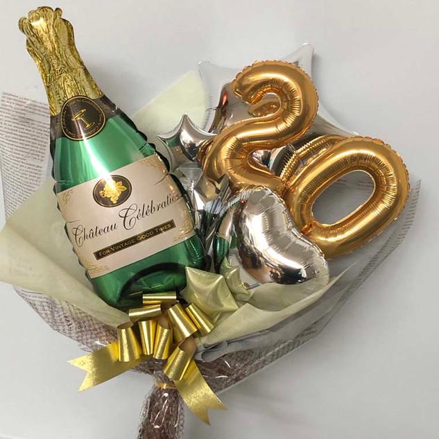 成人式用バルーン花束 シャンパンボトルS20
