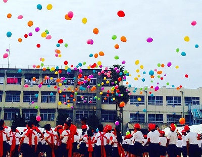 運動会で風船飛ばしバルーンリリース