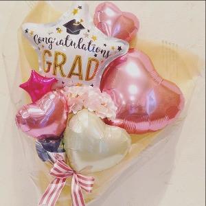 卒業用バルーン花束ピンク