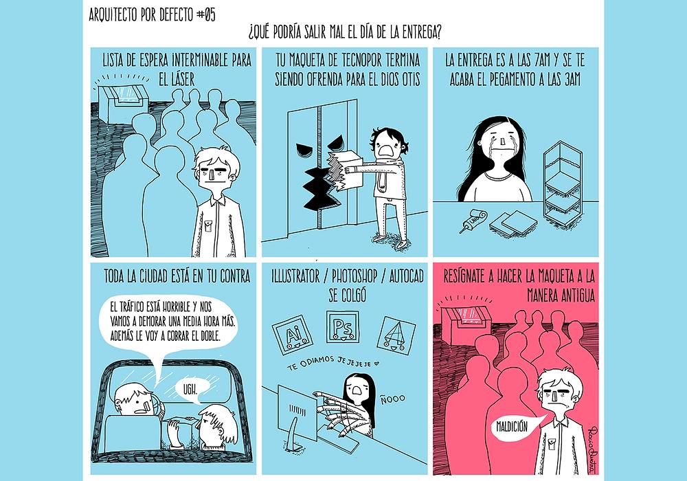 La historia de nuestra vida, divertidas ilustraciones que reflejan la vida de un arquitect@.