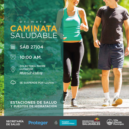 Caminata saludable: 27 de abril