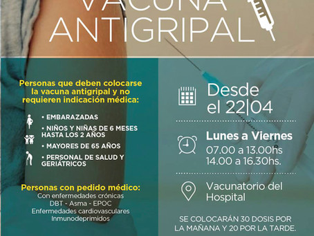 Campaña antigripal 2019